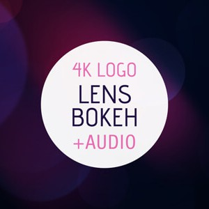 Lens Bokeh After Effects intro logo reveal template