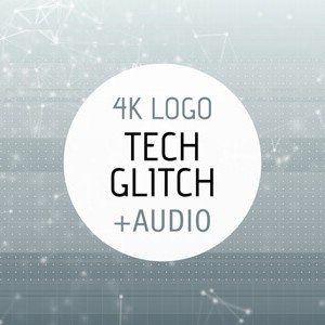 Tech Glitch After Effects intro logo reveal template