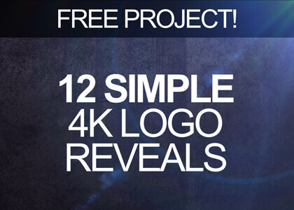 Twelve simple logo reveal templates for After Effects, free to download.