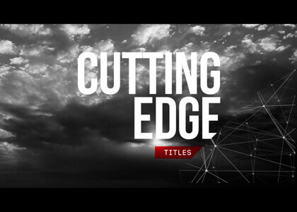 Cutting Edge After Effects slideshow template