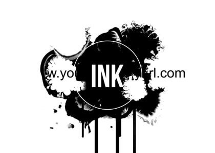 Ink Blot After Effects intro logo reveal template