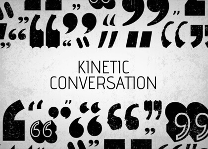 Kinetic Conversation After Effects titles template