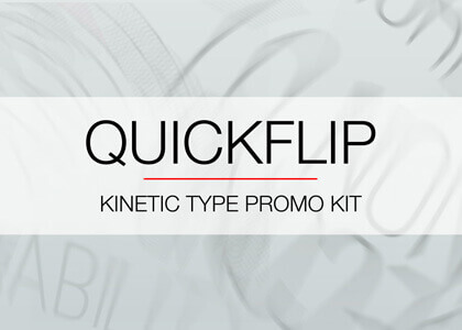 QuickFlip Kinetic Type After Effects titles template