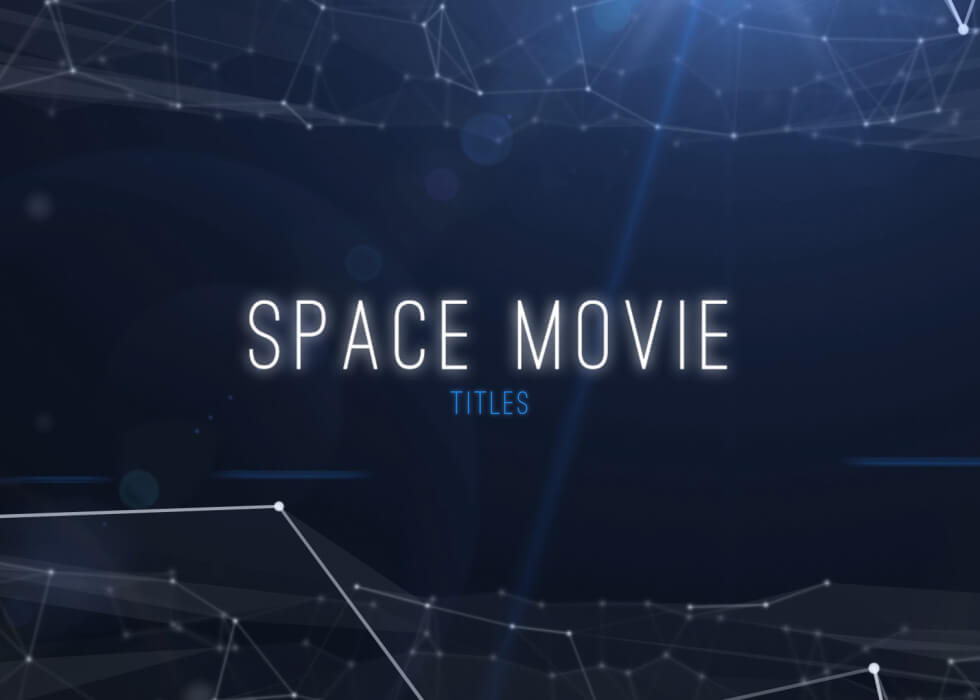 Space Titles After Effects titles template