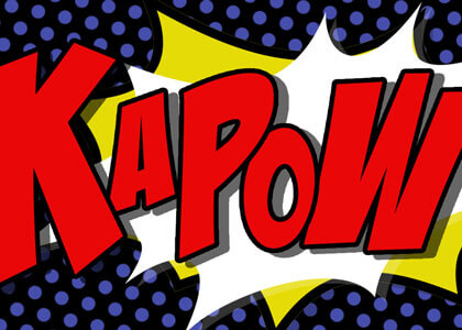 Kapow Comic Book Graphics backgrounds videos animation pack