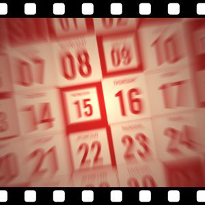 Calendar_Month_Red stock video animated clip