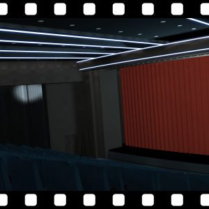 Cinema_Entrance_Greenscreen_HD stock video animated clip