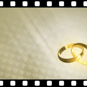 Gold_Wedding_Rings_Loop stock video animated clip