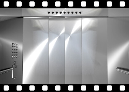 Modern_Elevator_to_Green_HD stock video animated clip