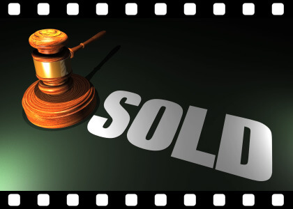 Auction_Hammer_Sold stock video animated clip