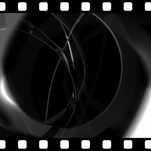 Chrome_Rings_On_Black_Loop stock video animated clip