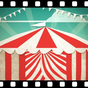 Circus_Tent_Entrance_to_Green stock video animated clip