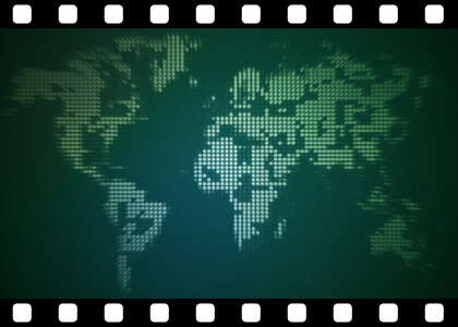 Dotty_World_Map_Loop stock video animated clip