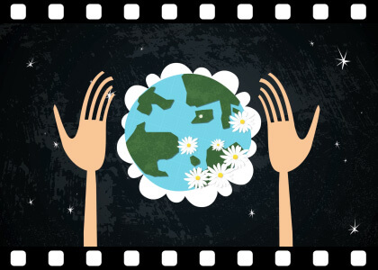 Earth_In_Healing_Hands stock video animated clip