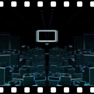 Futuristic_City_To_Green stock video animated clip