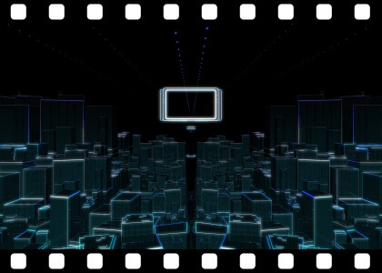 Futuristic_City_To_Green stock video animated clip
