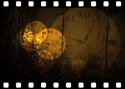 Grungy_Clock_Faces_Loop stock video animated clip