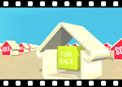 Houses_Being_Sold stock video animated clip