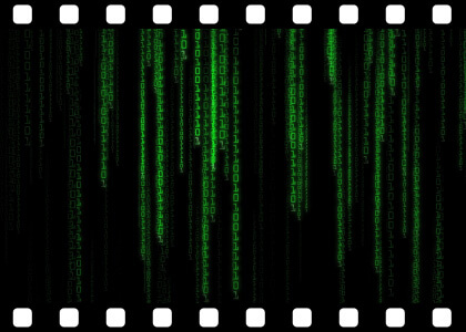 Matrix_Binary_Rain_Loop stock video animated clip