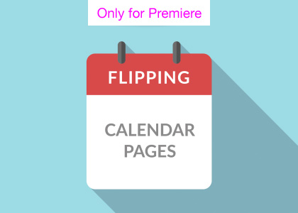 Calendar Page Turns Motion Graphics Template for Premiere Pro