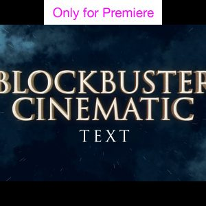 Cinematic Titles Motion Graphics Template for Premiere Pro