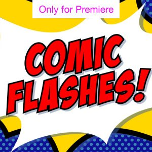 Kapow Comic Flashes Motion Graphics Template for Premiere Pro