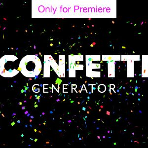 Confetti Word Cloud Motion Graphics Template for Premiere Pro