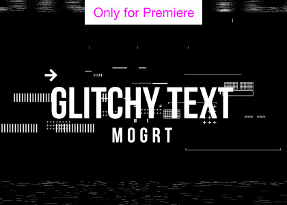 Digital Glicth Text Effect Motion Graphics Template for Premiere Pro