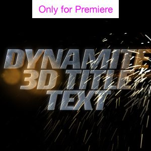 Dynamite Text Motion Graphics Template for Premiere Pro