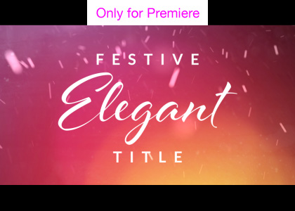 Elegant Titles Motion Graphics Template for Premiere Pro