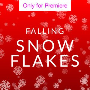 Falling Snowflake Motion Graphics Template for Premiere Pro