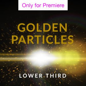 Golden Particles Lower Third Motion Graphics Template for Premiere Pro