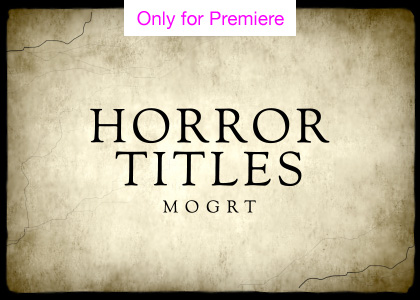 Horror Titles Motion Graphics Template for Premiere Pro