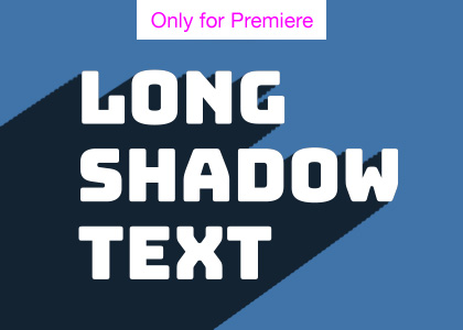 Long Shadow Title Motion Graphics Template for Premiere Pro