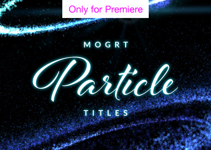 Particle Reveal Motion Graphics Template for Premiere Pro