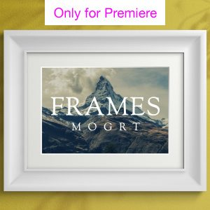 Photo Frames Motion Graphics Template for Premiere Pro