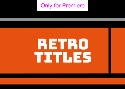 Retro Titles Motion Graphics Template for Premiere Pro