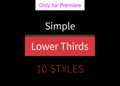 Simple Lower Thirds Motion Graphics Template for Premiere Pro