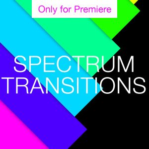 Rainbow Transition Motion Graphics Template for Premiere Pro