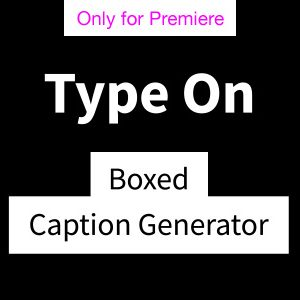 Type On Captions Motion Graphics Template for Premiere Pro