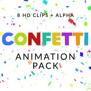 Confetti particle overlay video effect pack