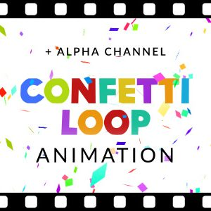 Free confetti explosion overlay background video animation loop