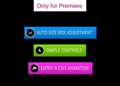 Alert Boxes Motion Graphics Template for Premiere Pro