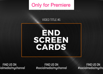 YouTube End Screen Cards Motion Graphics Template for Premiere Pro