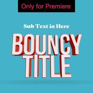 Bouncy Extruded 3D Text – Motion Graphics Template