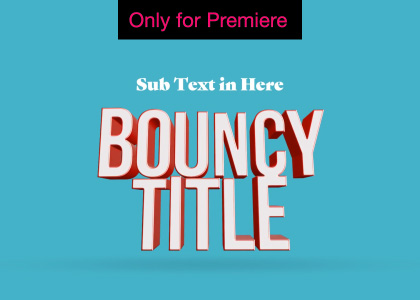3D Titles Motion Graphics Template for Premiere Pro