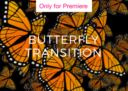 Butterfly Transition Motion Graphics Template for Premiere Pro