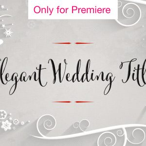 Wedding Titles Motion Graphics Template for Premiere Pro