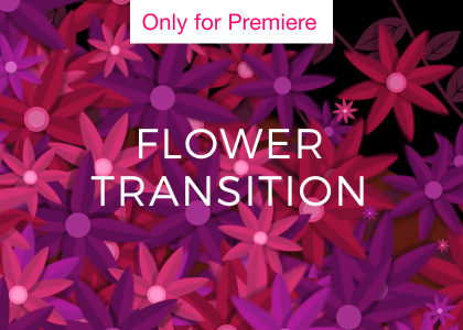 Flower Transition Motion Graphics Template for Premiere Pro
