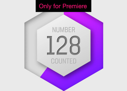 Hexagon Countdown Motion Graphics Template for Premiere Pro